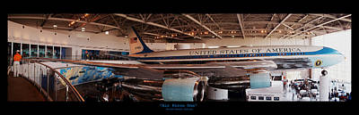 Air Force One - Ronald Reagan Library Poster by Glenn McCarthy Art and Photography