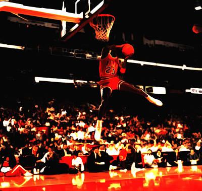 Air Jordan 1988 Slam Dunk Contest 8c Poster by Brian Reaves