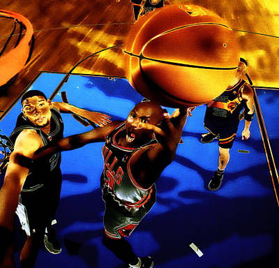Air Jordan Finger Roll Poster by Brian Reaves