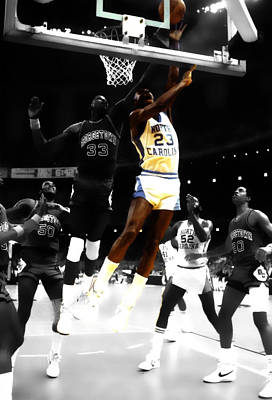 Air Jordan On Patrick Ewing Poster by Brian Reaves