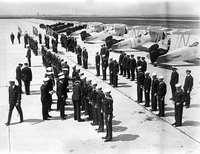 Air Sailors Being Inspected At Floyd Poster by Everett