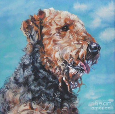 Airedale Terrier Poster by Lee Ann Shepard