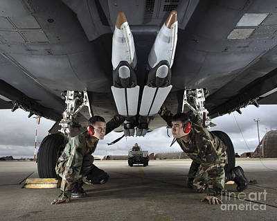 Airmen Check The Gbu-39 Small Diameter Poster by Stocktrek Images