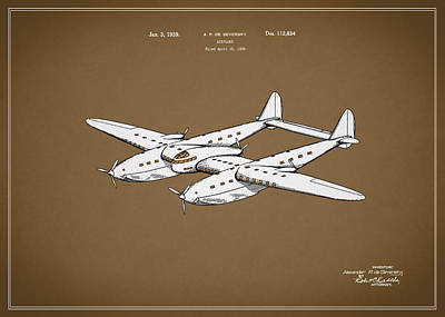 Airplane Patent 1939 Poster by Mark Rogan