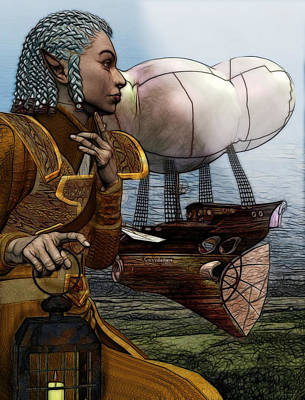 Airship Poster by Sharon and Renee Lozen