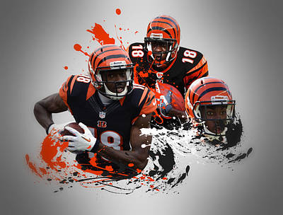 Aj Green Bengals Poster by Joe Hamilton