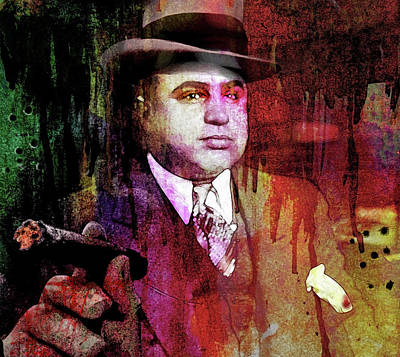Al Capone Poster by Mal Bray