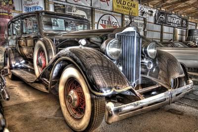 Al Capone's Packard Poster by Nicholas  Grunas