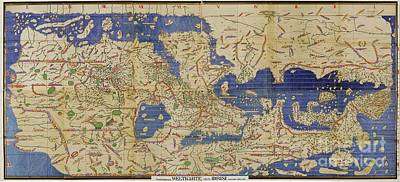 Al Idrisi World Map 1154 Poster by SPL and Photo Researchers