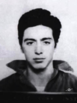 Al Pacino Mug Shot 1961 Black And Blueish  Poster by Tony Rubino