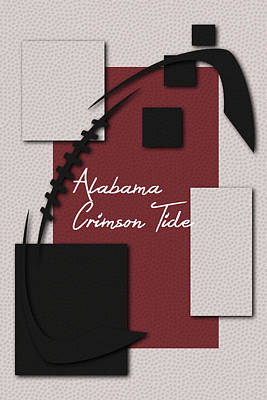 Alabama Crimson Tide Art Poster by Joe Hamilton