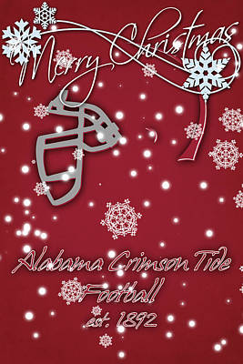 Alabama Crimson Tide Christmas Card 2 Poster by Joe Hamilton