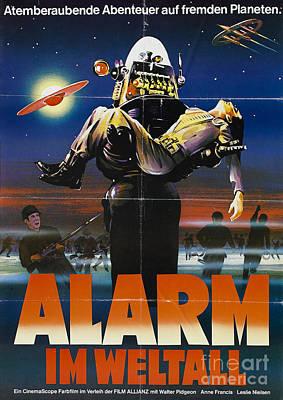 Alarm Im Weltall German Forbidden Planet Movie Poster Poster by R Muirhead Art