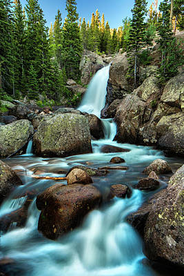 Alberta Falls At Daybreak - Www.thomasschoeller.photography Poster by Thomas Schoeller