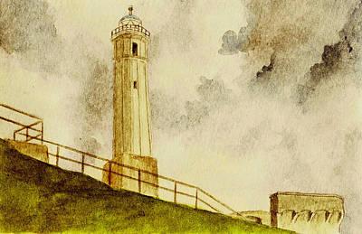 Alcatraz Island Lighthouse Poster by Michael Vigliotti