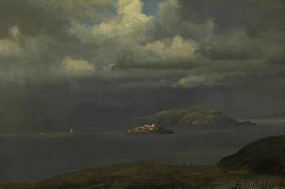 Alcatraz, San Francisco Bay Poster by Albert Bierstadt