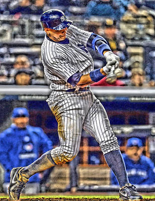 Alex Rodriguez New York Yankees Art 3 Poster by Joe Hamilton