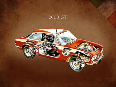 Alfa Romeo 2000 Gt 1971 Poster by Mark Rogan