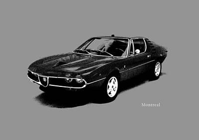 Alfa Romeo Montreal Poster by Mark Rogan