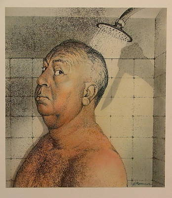 Alfred Hitchcock The Shower Poster by Gary Kaemmer