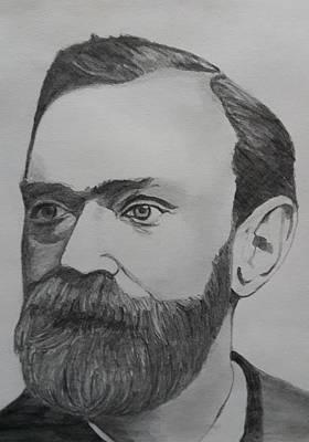 Alfred Nobel Poster by Premnath Mohan