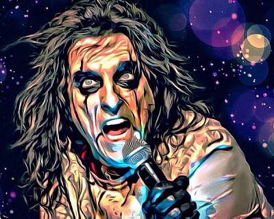 Alice Cooper Portrait Poster by Scott Wallace