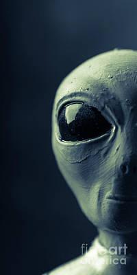 Alien Half Profile Phone Case Poster by Edward Fielding