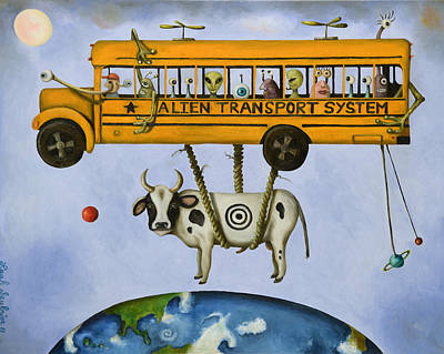 Alien Transport Pro Photo Poster by Leah Saulnier The Painting Maniac