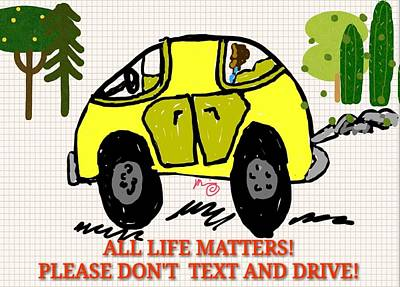 All Life Matters Poster by Blue Doves