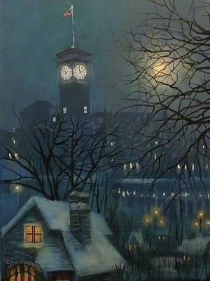 Allen Bradley Clock Milwaukee Poster by Tom Shropshire