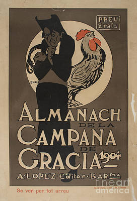 Almanach De La Campana De Gracia Poster by MotionAge Designs