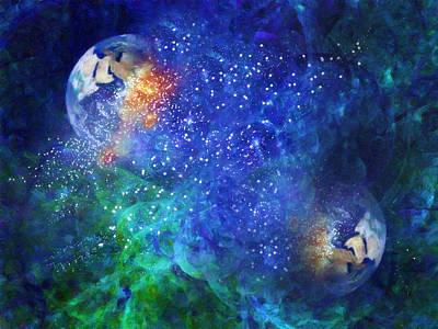 Alpha Centauri Abstract Moods Poster by Georgiana Romanovna