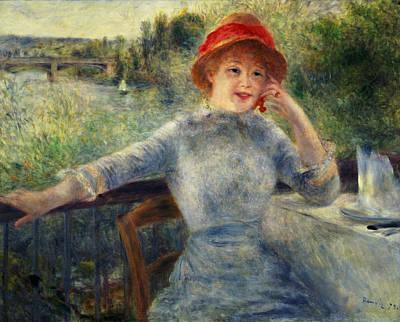 Alphonsine Fournaise Poster by Pierre Auguste Renoir