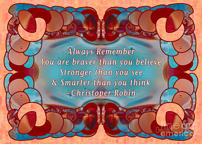 Always Remember Abstract Inspirational Art By Omashte Poster by Omaste Witkowski