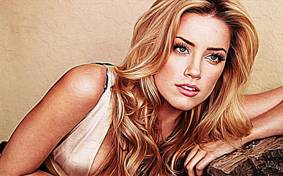 Amber Heard Poster by Iguanna Espinosa