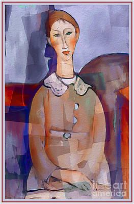 Amedeo Modigliani By Ante Barisic Poster by Ante Barisic