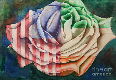American Beauty Irish Rose Poster by Ann Sokolovich