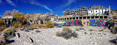 American Flat Mill Virginia City Nevada Panoramic Poster by Scott McGuire