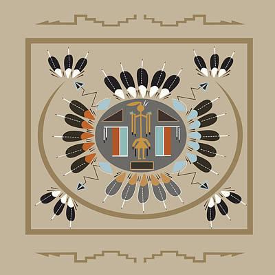 American Native Art No. 12 Poster by Henrik Bakmann