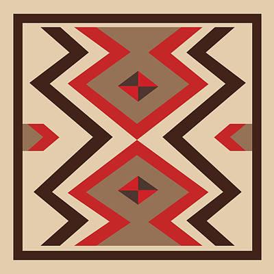American Native Art No. 15 Poster by Henrik Bakmann