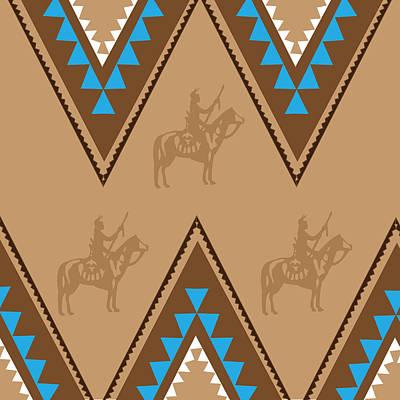 American Native Art No. 2 Poster by Henrik Bakmann