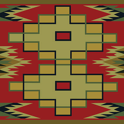 American Native Art No. 22 Poster by Henrik Bakmann