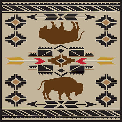 American Native Art No. 6 Poster by Henrik Bakmann