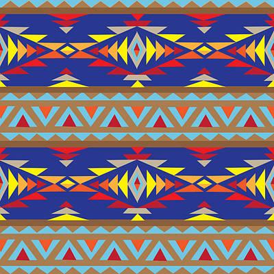 American Native Art No. 7 Poster by Henrik Bakmann