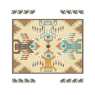 American Native Art No. 8 Poster by Henrik Bakmann