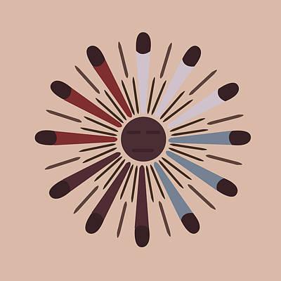 American Native Art No. 9 Poster by Henrik Bakmann