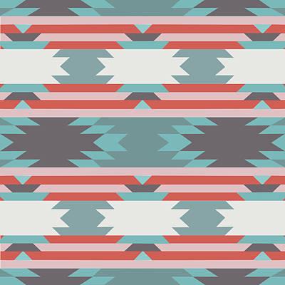 American Native Pattern No. 25 Poster by Henrik Bakmann