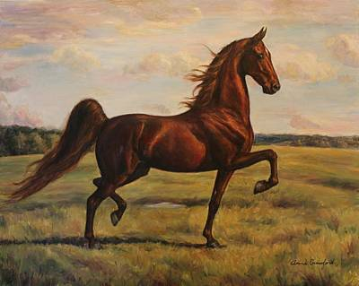 American Saddlebred Poster by Anne Crawford