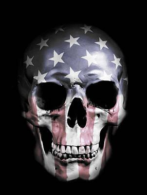 American Skull Poster by Nicklas Gustafsson