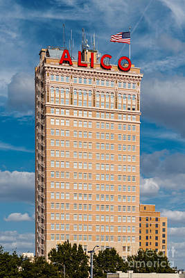 Amicable Life Insurance Company Building In Downtown Waco Texas Poster by Silvio Ligutti